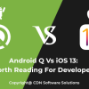 Android Q and iOS 13 features amaze people as well as mobile app developers. Implementing those feature is always challanging for mobile app development company.