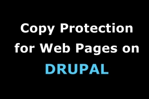 Copy protecting Drupal web sites has never been so easy. Simply nominate a keyword for the...