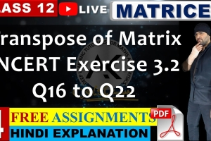 Get online live video lecture explaining NCERT Solutions for Exercise 3.2 of Chapter 3 Mat...