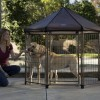 If your dog knows how to make a ruckus, metal small pet outdoor enclosures are going to be the best at withstanding it.