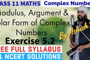 Online video lecture explaining Modulus, Argument, Polar Form and NCERT Solutions for Exer...