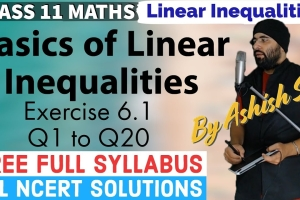 Online video lecture explaining Basics of Linear Inequalities and NCERT Solutions for Exer...