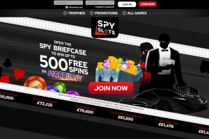 SPY Slots Casino is a brand New Slots and they're offering all new players Spin on the M...