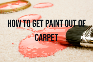 The best way to remove paint from carpet is to prevent it ,if you still have paint on your...