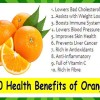 Top 10 Health Benefits of Orange - Eating Every Day Benefits Fruits around the world so let us see the ten of these health benefits.