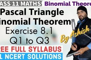 Understand Pascal Triangle and NCERT Solutions for Exercise 8.1 of Chapter 8 Binomial Theo...
