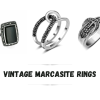 vintage marcasite rings vintage marcasite rings are the most subtle and classy rings that you can ever come across. The reason being is that the design is timeless