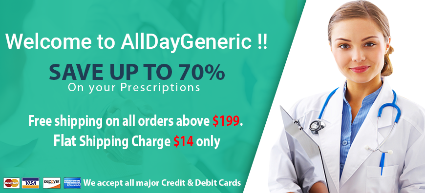 AllDayGeneric is the 100% trusted Online Cheap Drugstore. Order Prescription Drugs Online ...