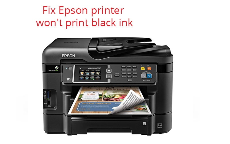 Are you getting Epson printer not printing black ink? Read this blog to Follow the steps t...