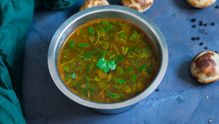 A spicy and tasty rasam made with pepper and some other spices. This is a South Indian ver...