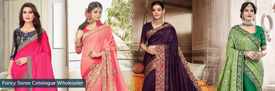 Buy fancy sarees online at best price. Buy high-quality material fancy sarees at best pric...