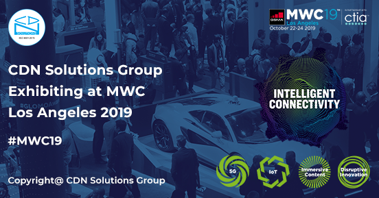 CDN Solutions Group on any day from 22nd to 24th October 2019 at the Los Angeles. What are...