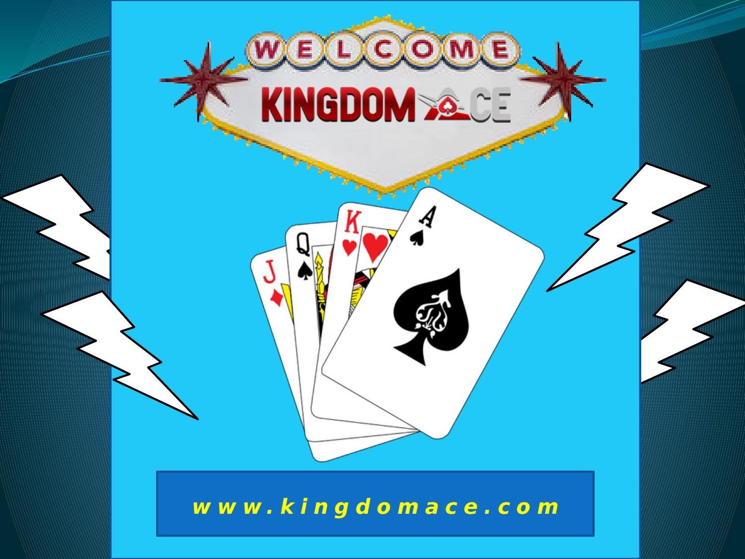 Kingdom ace is a new casino site and gives the best offer to play online casino games. Ple...
