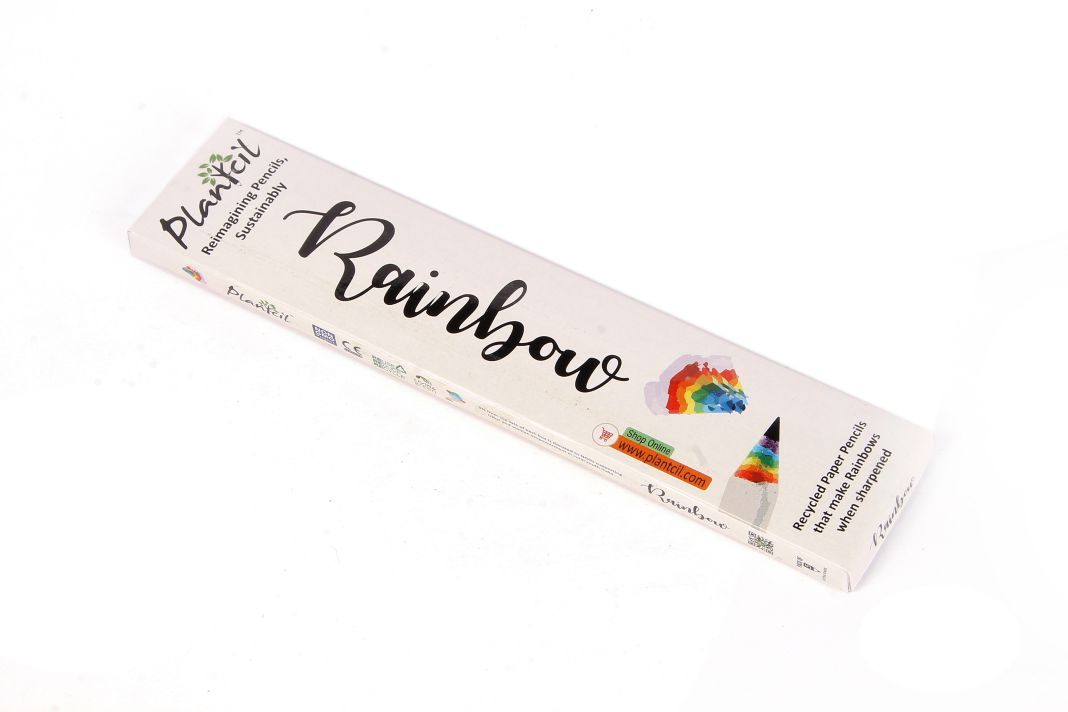 Made from ecofriendly recycled paper, rainbow pencils let you create beautiful paper rainb...