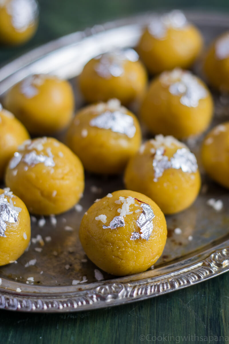 Mango malai ladoo are very delicious and addictive sweet ladoo made with all things good. ...