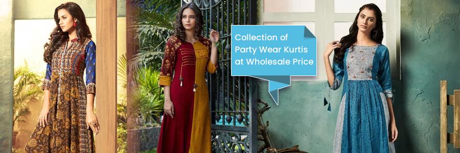Party Wear Kurtis Online - Shop for beautiful & trendy party wear kurtis online at wholesa...