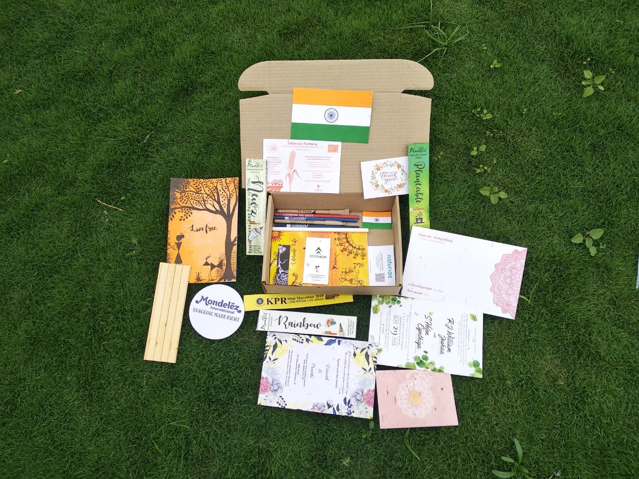 Plantable Sample Kit are eco friendly it Include the Pens Pencils,Notepads Notebooks Wrist...