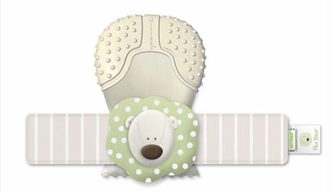 STAGE TWO (3–12 MONTHS) PROTECTIVE, DEVELOPMENTAL 100% ORGANIC TEETHING MITTEN