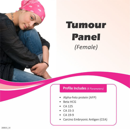 Test and health packages Offers for TUMOUR PANEL (FEMALE) Cost Rs. 2300 avail discount cou...