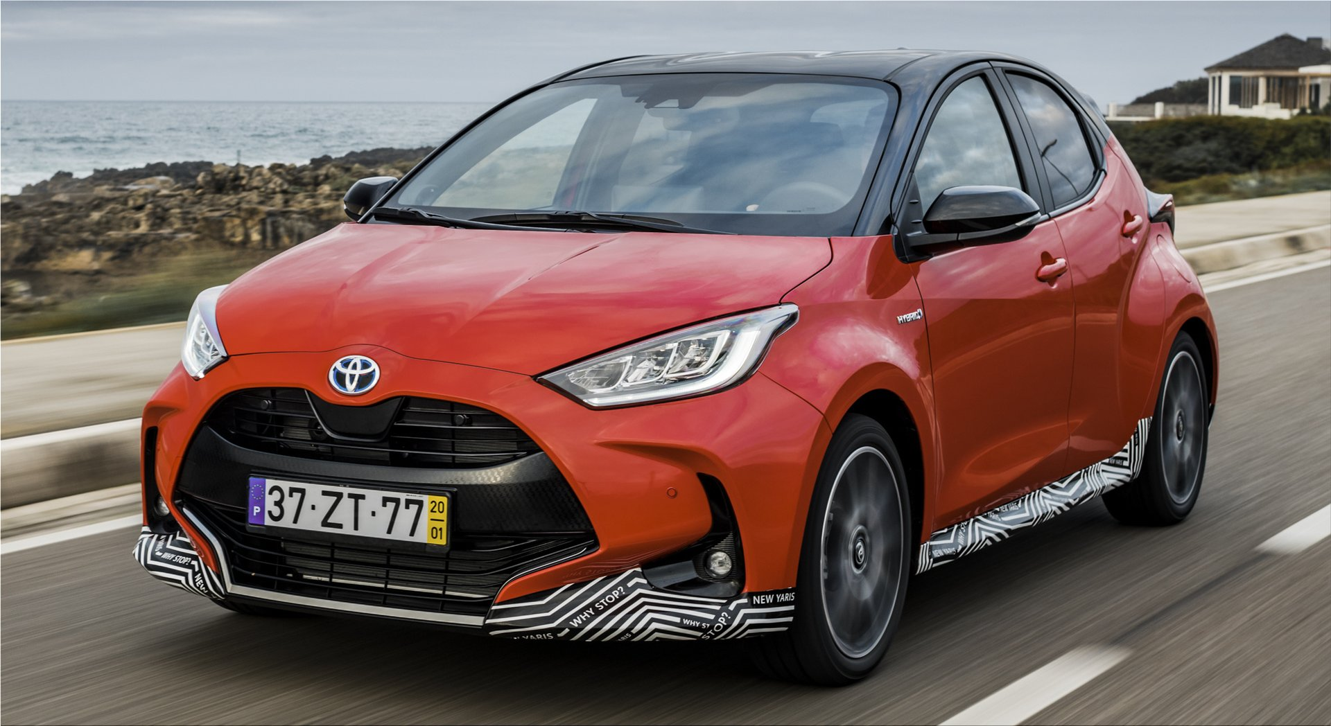 The new Toyota Yaris won the car industry's prestigious award Car of the Year 2021 in Euro...