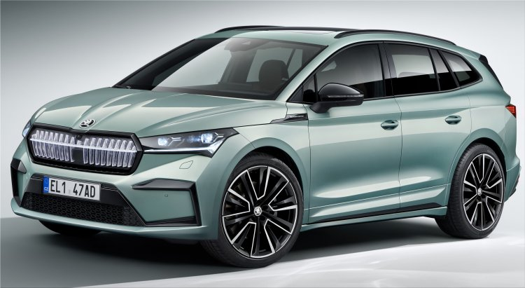 The official premiere of the first 100% electric SUV of the Czech brand, Skoda Enyaq iV, h...