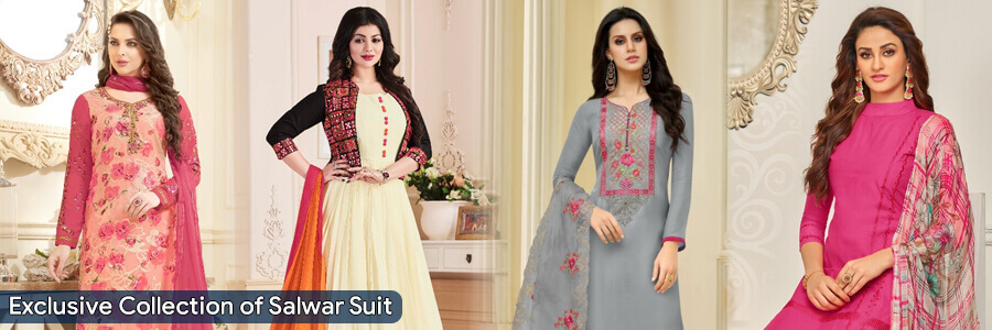 We provide here all Salwar Suits online at best price. Buy high-quality material salwar su...