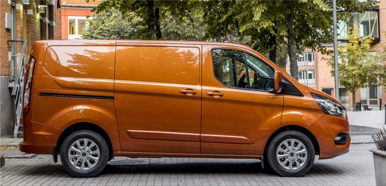 With the new geofencing technology, the new Ford Transit Custom Plug-In Hybrid, you use th...