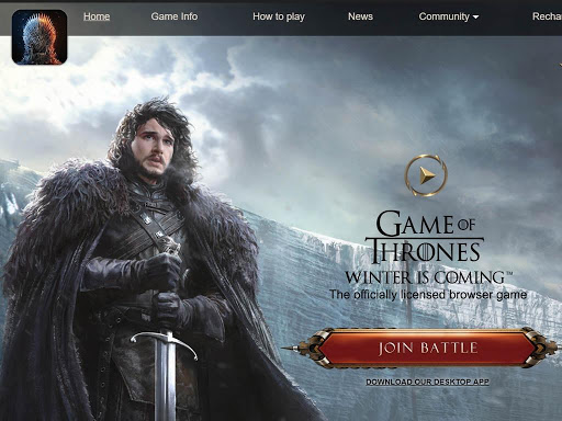 You have undoubtedly seen them pass by; ads for the official Game of Thrones browser game....