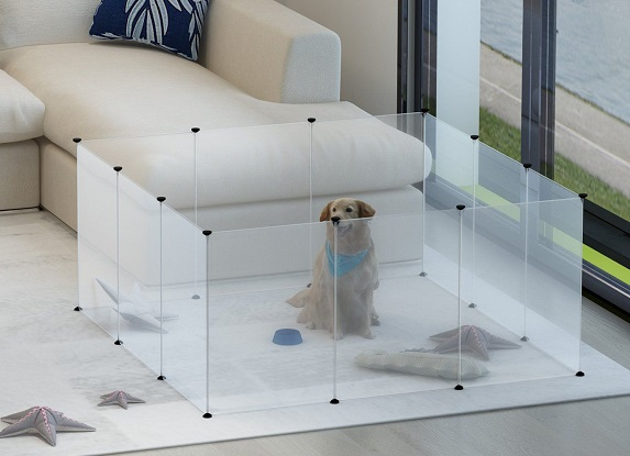 You should look for dog playpens that can allow your pet to play around without feeling trapped.